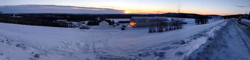 View from University of Alaska, Fairbanks. Note the sun setting at ~14:30 in the afternoon