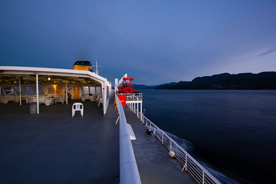 The deck of the Malaspina on the way to Juneau, Alaska
