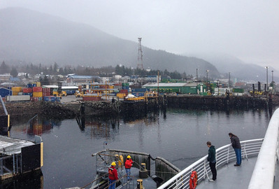 Brief stop in Ketchikan, Alaska — the Malaspina