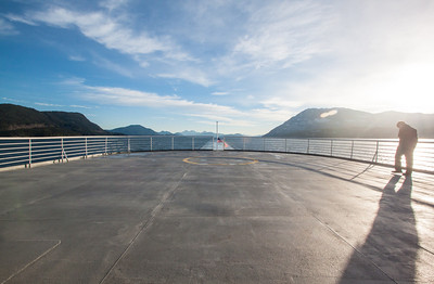 On the deck of the Malaspina on the way to Juneau, Alaska