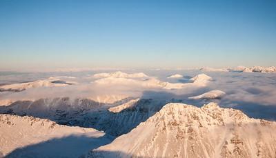 Flight from Juneau to Anchorage, Alaska