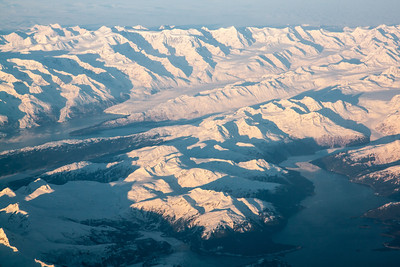 Flight from Juneau to Anchorage, Alaska