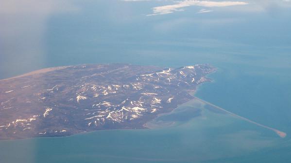 Over Alaska on the way to Tokyo