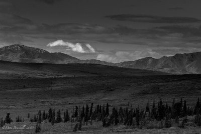 Mount McKinley floats on the clouds in Denali National Park