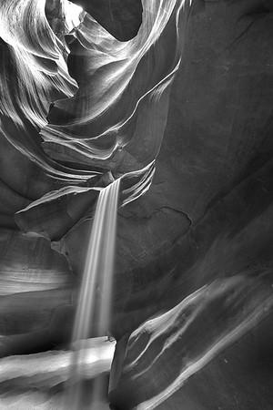 Gorgeous Sand waterfall in Antelope B&W