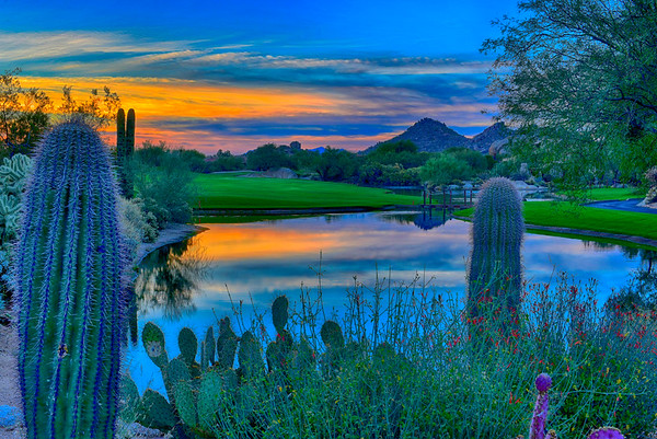 Sunrise on Boulders Golf Course HDR