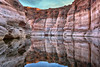 Incredible reflection in lake and canyon
