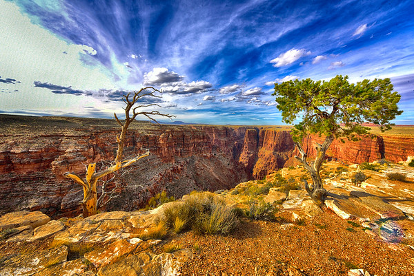 Crazy canyon and clouds