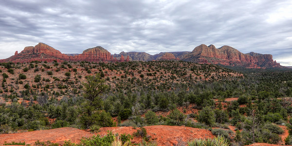 Sedona Landscape with beautiful clouds cropped