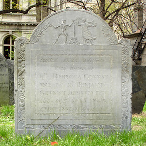 Look at the top of the tombstone - Boston, MA ... April 18, 2006 ... Photo by Rob Page III