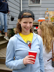 Emily, enjoying the Boston Marathon - Chestnut Hill, MA - April 17, 2006 ... Photo by Rob Page III