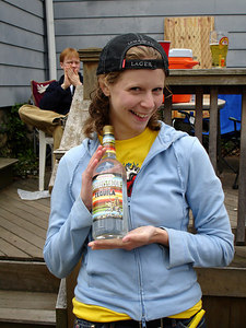 Happy Emily with her bottle of tequilla - Chestnut Hill, MA - April 17, 2006 ... Photo by Rob Page III