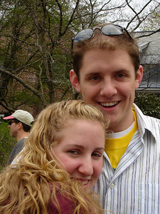 Heather and John taking in the Boston Marathon - Chestnut Hill, MA - April 17, 2006 ... Photo by Rob Page III