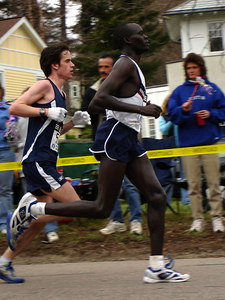 Two of the Elite runners in the Boston Marathon - Chestnut Hill, MA ... April 17, 2006 ... Photo by Rob Page III