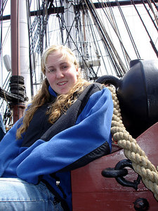 Heather on the USS Constitution - Boston, MA ... April 19, 2006 ... Photo by Rob Page III