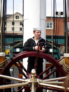 At the helm on the USS Constitution - Boston, MA ... April 19, 2006 ... Photo by Rob Page III