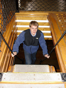 Climbing below deck on the USS Constitution - Boston, MA ... April 19, 2006 ... Photo by Heather Page