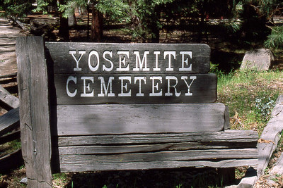 May 5 2003 ... Ref: 0305C01 ... Yosemite National Park.  Yosemite valley floor - Yosemite Cemetery. ... Photographed by Robert W Page Jr