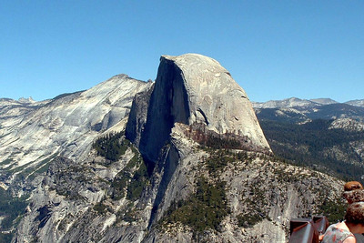"Ref:  0307Y11 ... July 15 2003 ... Yosemite National Park California - Rich Dunhoff Memorial Trip - Half Dome as viewed from Glacier Point. ... Photo owned by Tess Dunhoff and submitted as ""DSCF0017.jpg"""