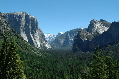 "Ref:  0307Y16 ... July 15 2003 ... Yosemite National Park California - Rich Dunhoff Memorial Trip - View of El Capitan (left) and main valley in park. ... Photo owned by Tess Dunhoff and submitted as ""DSCF0032.jpg"""
