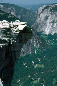 Ref: 0307L16 ... July 16 2003 ... Yosemite National Park California - Rich Dunhoff Memorial Trip - Hike up Half Dome from Little Yosemite Valley - Summit of Half Dome. ... Photographed by Robert W Page Jr