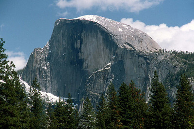 May 5 2003 ... Ref: 0305C19 ... Yosemite National Park.  Half Dome from Yosemite valley floor. ... Photographed by Robert W Page Jr