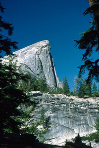 Ref: 0307K33 ... July 16 2003 ... Yosemite National Park California - Rich Dunhoff Memorial Trip - Hike up Half Dome from Little Yosemite Valley - View of Half Dome as we approached from east. ... Photographed by Robert W Page Jr