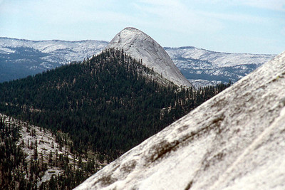 Ref: 0307L27 ... July 16 2003 ... Yosemite National Park California - Rich Dunhoff Memorial Trip - Hike up Half Dome from Little Yosemite Valley - view of Mt Starr King from summit of Half Dome. ... Photographed by Robert W Page Jr