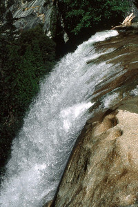 Ref: 0307J19 ... July 15 2003 ... Yosemite National Park California - Rich Dunhoff Memorial Trip - Top of Vernal Falls. ... Photographed by Robert W Page Jr