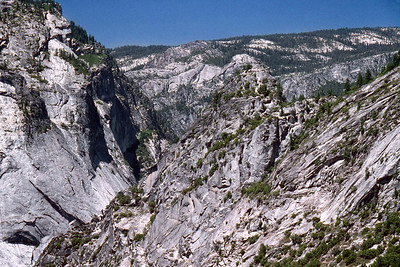 Ref: 0307J33 ... July 15 2003 ... Yosemite National Park California - Rich Dunhoff Memorial Trip - View down Merced River valley from top of Nevada Falls. ... Photographed by Robert W Page Jr
