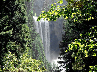 "Ref:  0307Y18 ... July 15 2003 ... Yosemite National Park California - Rich Dunhoff Memorial Trip - View of Vernal Falls during hike up to Little Yosemite Valley. ... Photo owned by Tess Dunhoff and submitted as ""DSCF0037.jpg"""