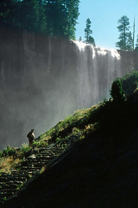 Ref: 0307J07 ... July 15 2003 ... Yosemite National Park California - Rich Dunhoff Memorial Trip - Vernal Falls and Mist Trail. Tess Dunhoff ... Photographed by Robert W Page Jr