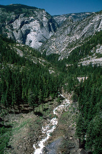 Ref: 0307K06 ... July 15 2003 ... Yosemite National Park California - Rich Dunhoff Memorial Trip - Looking down Merced River valley from top of Nevada Falls. ... Photographed by Robert W Page Jr
