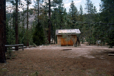 May 6 2003 ... Ref: 0305D23 ... Yosemite National Park.  Little Yosemite Valley Campground outhouse. ... Photographed by Robert W Page Jr