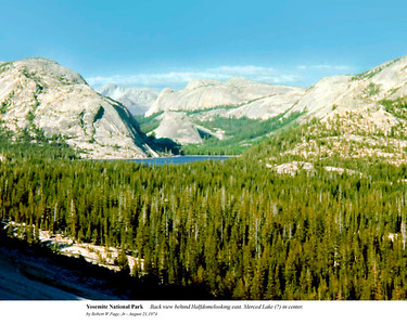 Yosemite - Back view.  by Robert W Page, Jr - August 21,1974