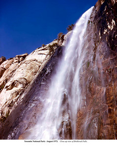 Yosemite - Bridlevail Falls - August 1973 by Robert W PAge, Jr