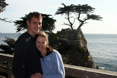 Rob and Emily with the Lone Cyprus - Monterey, CA ... March 11, 2009 ... Photo by Unknown