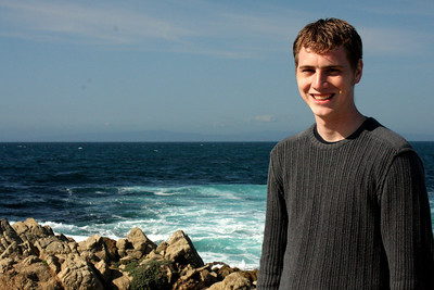 Rob enjoying the beautiful California day - Monterey, CA ... March 11, 2009 ... Photo by Emily Page