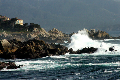 Waves crash at Cyprus Point Lookout - Monterey, CA ... March 11, 2009 ... Photo by Rob Page III