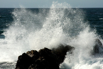 Waves crash on the rocks at Point Joe - Monterey, CA ... March 11, 2009 ... Photo by Rob Page III