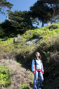 Emily hiking along the coast - Big Sur, CA ... March 10, 2009 ... Photo by Rob Page III