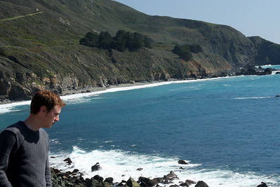 Rob staring out to sea - Big Sur, CA ... March 10, 2009 ... Photo by Emily Page