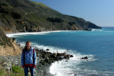 EMily enjoying the California coast - Big Sur, CA ... March 10, 2009 ... Photo by Rob Page III