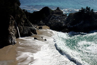 The waterfall at Julia Pfeiffer Burns State Park - Big Sur, CA ... March 10, 2009 ... Photo by Rob Page III