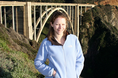 Emily and the Bixby Bridge - Big Sur, CA ... March 10, 2009 ... Photo by Rob Page III