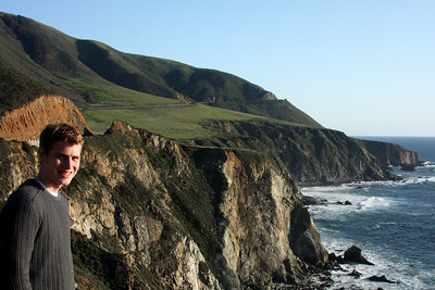 Rob enjoying the coast - Big Sur, CA ... March 10, 2009 ... Photo by Emily Page