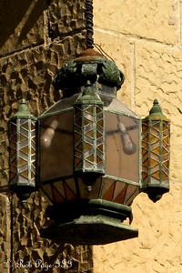 One of the lamps at the Santa Barbara Courthouse - Santa Barbara, CA ... March 9, 2009 ... Photo by Rob Page III