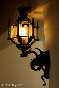 A lamp at the Santa Barbara Courthouse - Santa Barbara, CA ... March 9, 2009 ... Photo by Rob Page III