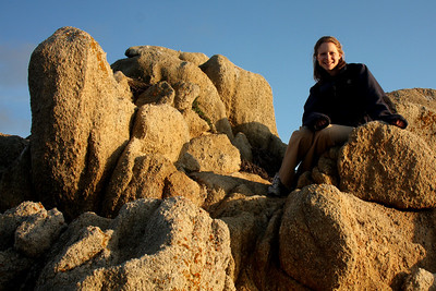 Emily watching the sunset at Point Lobos State Reserve - Carmel, CA ... March 11, 2009 ... Photo by Rob Page III