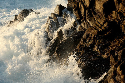 Waves crash on rocks at Granite Point in Point Lobos State Reserve - Carmel, CA ... March 11, 2009 ... Photo by Rob Page III